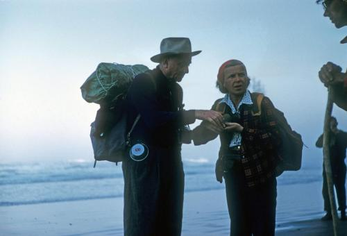 Douglas hiking on beach